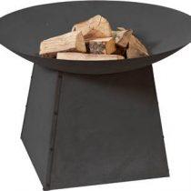 2L Home and Garden Vuurschaal Ø90 cm zwart op onderstel -90x60cm Tuinverwarming Zwart Staal