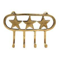 À la Stars Haken - 4 stuks Kapstokken Goud Messing