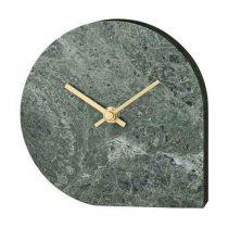 AYTM Stilla Marmeren Klok 16 x 16 cm Klokken Groen Marmer