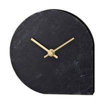 AYTM Stilla Marmeren Klok 16 x 16 cm Klokken Zwart Marmer