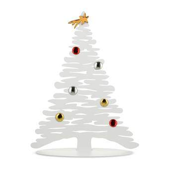 Alessi Bark for Christmas Kerstdecoratie Kerstassortiment Wit RVS