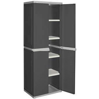 Allibert Utility Cabinet Opbergkast Opbergen Grijs Kunststof