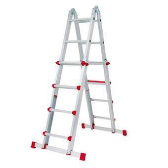 Altrex Varitrex Teleflex Vouwladder Ladders & trappen Zilver Aluminium