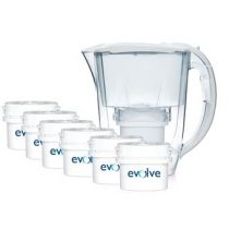 Aqua Optima Oria Waterfilterkan + 6 filters Promopack Servies Transparant