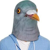 Archie McPhee Pigeon Masker Duif Gadgets Grijs Rubber
