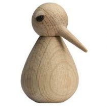 Architectmade Bird Houten Vogeltje L Woonaccessoires Bruin Hout