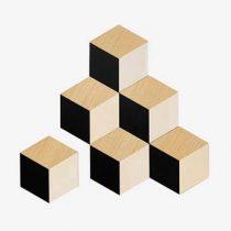 Areaware 3D Tegel Onderzetters - set van 6 Tafelpresentatie Beige