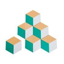 Areaware 3D Tegel Onderzetters - set van 6 Tafelpresentatie Grijs