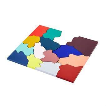 Areaware Color Puzzle Onderzetter Tafelpresentatie Multicolor Hout