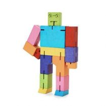Areaware Robot Cubebot Medium Gadgets Multicolor Hout