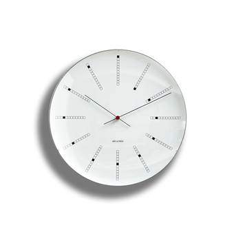 Arne Jacobsen AJ Bankers Wandklok Ø 21 cm Klokken Wit Aluminium