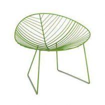 Arper Leaf Lounge Stoel Tuinmeubels Groen Staal