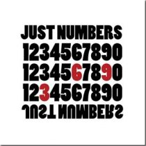 Art&So Canvasdoek Just Numbers 50 x 50 cm Wanddecoratie & -planken Wit Canvas