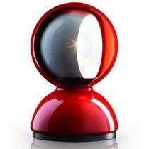 Artemide Eclisse Tafellamp Verlichting Rood Aluminium