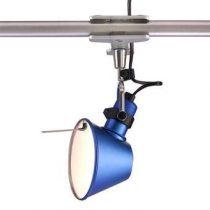 Artemide Tolomeo Micro Pinza Spotlamp Verlichting Blauw Aluminium