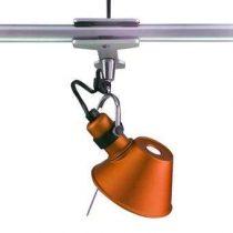 Artemide Tolomeo Micro Pinza Spotlamp Verlichting Oranje Aluminium