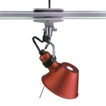 Artemide Tolomeo Micro Pinza Spotlamp Verlichting Rood Aluminium