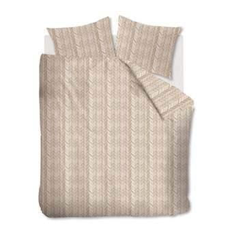 At Home Fold Dekbedovertrek 200 x 220 cm Slapen & beddengoed Beige Katoen
