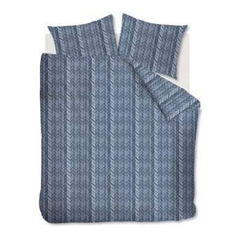 At Home Fold Dekbedovertrek 200 x 220 cm Slapen & beddengoed Blauw Katoen