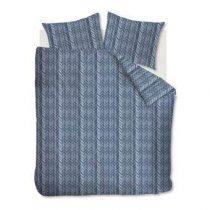 At Home Fold Dekbedovertrek 240 x 220 cm Slapen & beddengoed Blauw Katoen