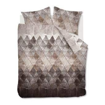 At Home Leather Dekbedovertrek 200 x 220 cm Slapen & beddengoed Bruin Katoen