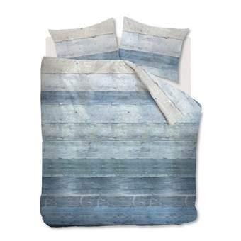 At Home Lived Dekbedovertrek 140 x 220 cm Slapen & beddengoed Blauw Katoen