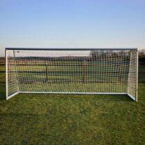 Avyna PRO Voetbaldoel 500 x 200 cm met Voetbal - set van 2 Buitenspeelgoed Grijs Aluminium
