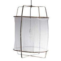 Ay Illuminate Z1 Katoen Hanglamp Verlichting Wit Bamboe