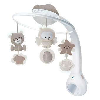 B-Kids Musical 3-in-1 Mobiel met Projector Baby & kinderkamer Grijs Kunststof