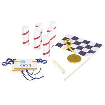 BS® Raceset Buitenspeelgoed Multicolor Hout