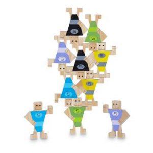 BS® Stackman Stapelmannen Buitenspeelgoed Multicolor Hout