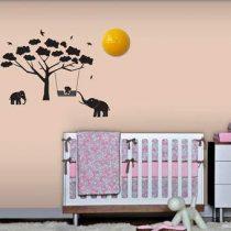 BabyZoo Mumbo Wandlamp Baby & kinderkamer Zwart Kunststof