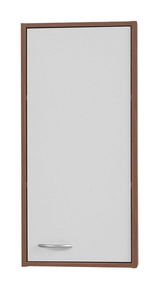 0.00 - Badkamer hangkast Madrid 1 - Wit met Walnoot - Badkamer