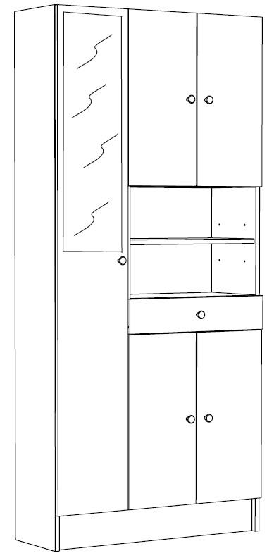 Badkamerkast Met Spiegeldeur.Badkamerkast Belly 3 Wit Met Spiegeldeur Young Furniture