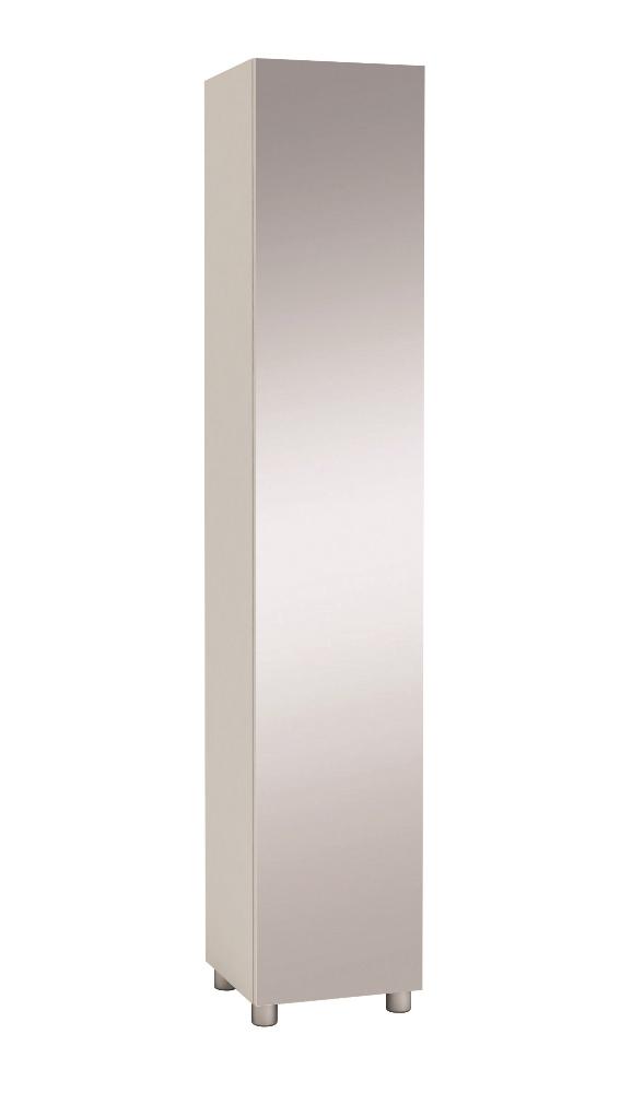 0.00 - Badkamerkast Belly wit met Spiegeldeur - Badkamer