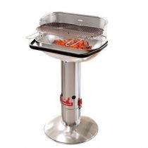 Barbecook Loewy 55 RVS Houtskoolbarbecue Barbecues Zilver RVS