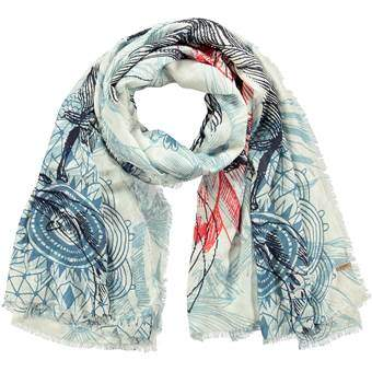 Barts Frejus Sjaal Fashion accessoires Blauw