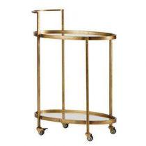 BePureHome Push Trolley Tafels Brons Glas