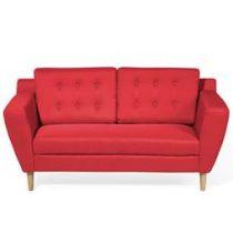 Beliani 2-Zits bank gestoffeerd rood KUOPIO Banken Rood Polyester
