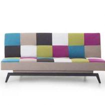 Beliani Bank patchwork - slaapbank - bedbank - klapbank - bank - LEEDS Bedden Multicolor Polyester
