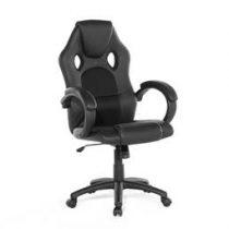 Beliani Bureaustoel - burostoel - draaistoel - zwart - REST Stoelen Zwart Kunstleer