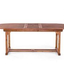 Beliani Tuintafel van hout - verlengbare houten tafel - TOSCANA Tuinmeubelen Bruin Hout
