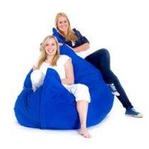 Beliani XXXL MONSTER Zitzak 180 x 230 - Beanbag - Kussen - BLAUW Stoelen Blauw Nylon