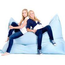 Beliani XXXL MONSTER Zitzak 180 x 230 - Beanbag - Kussen - LICHTBLAUW Stoelen Blauw Nylon
