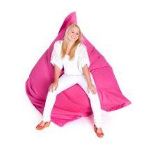 Beliani XXXL MONSTER Zitzak 180 x 230 - Beanbag - Kussen - ROZE Stoelen Roze Nylon