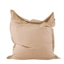 Beliani Zitzak - beanbag - zitkussen - zandbruin - 140x180cm - BELIANI Stoelen Beige Polyester