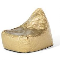 Beliani Zitzak goud - stoel - zitkussen - polyester - lounge - DROP Stoelen Goud