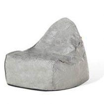 Beliani Zitzak grijs - stoel - zitkussen - polyester - lounge - DROP Stoelen Grijs
