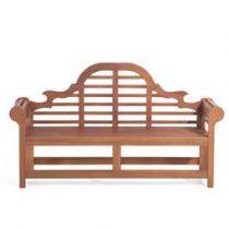 Beliani houten tuinbank - 180cm - TOSCANA Marlboro Tuinmeubelen Bruin Hout