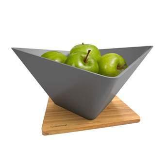Black+Blum Forminimal Fruitschaal met Plateau Tafelpresentatie Bruin
